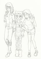 human gals by Mikisakiiro