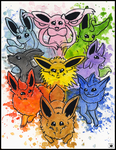 Eeveelutions by Nightlinez
