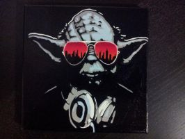 Yoda stencil by JM-MJ