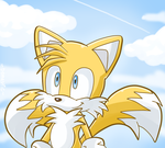 Tails at the sky by Domestic-hedgehog