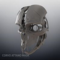 Corvo Attano Dishonored Mask - WIP 01 by mogcaiz
