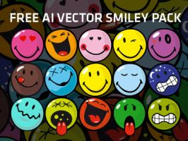 Free Ai Vector Smiley Pack by MathieuOdin