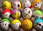 Snoopy Easter eggs by Rene-L