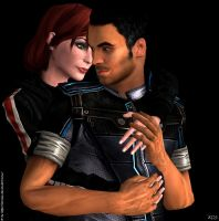 Jane and Kaidan by Servala