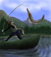 Fishing.... Never Again. by pikminpedia