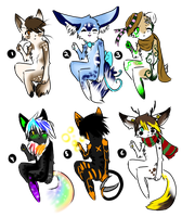 Anthro Adoptable Batch 13-Closed by Sixbane