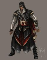 Assassin's creed - Altair armos concept. by diego1a