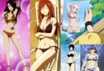 Fairy Tail swimsuit models by BlissfullyDisturbed
