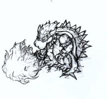 bowser sketch by thexhellion