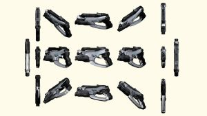 Mass Effect 2, M-5 Phalanx Pistol Reference by Troodon80