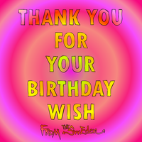 Thank you for your birthday wishes card image by sw-eden