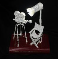 American Cinematography Book Sculpture by wetcanvas