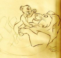 Simba and Mufasa by Kkimmy