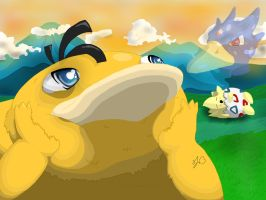 Dream big Psyduck by Ansuelo