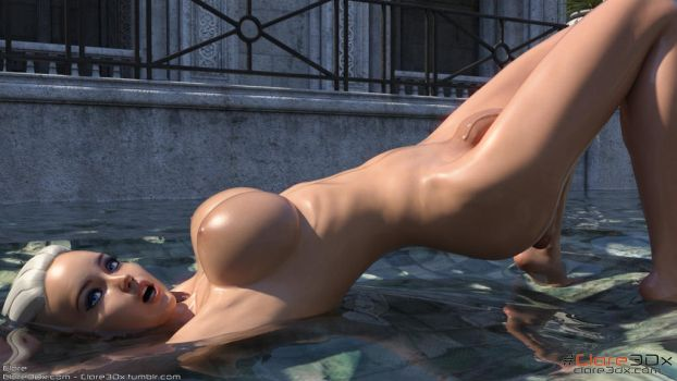 Clare-Hung-Busty-Shemale-Pool-005b by Clare3Dx
