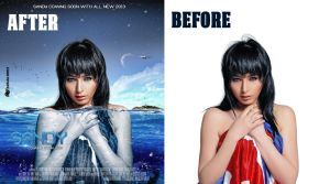 Sandy Before / After by face2ook