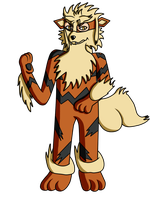 AT: Lion Arcanine by XalenTheWolf