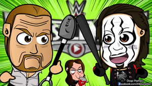Triple H vs Sting - WrestleMania Chibi Wallpaper by kapaeme