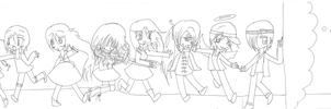 My Planet Oc's LINEART by ice---tea