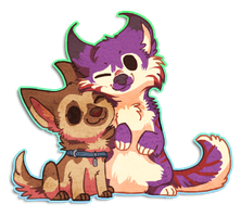 Chibi Riley and Koosh by griffsnuff