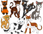 Free cat adoptables -closed- by Silverhollow