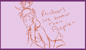 Reindeers are Better Than People by Razapple