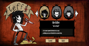 Don't starve-jeff the killer by TheRoboticFanGirl