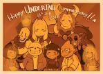 Undertale - Happy 1st Anniversary by Mikoto-chan
