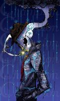 Skeleton - Smoking in the rain by Championx91