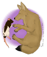 Coyote and Rat by Aerisyka