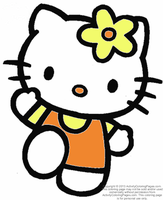 Hello Kitty coloring page 2 by YukiAtem12
