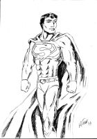 Style Practice - Superman Sketch by MarcusSmiter