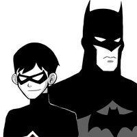 Young Justice: Robin and Batman by MomoZuZu