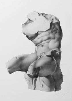 Belvedere Torso after Charles Bargue by mtranquilli