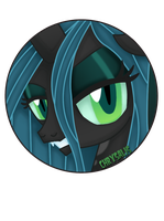 Queen Chrysalis Pin by BrittanysDesigns