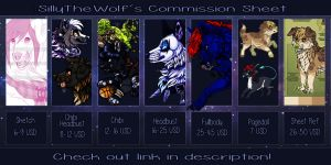 :. SillyTheWolf's Commission Sheet :. by SillyTheWolf