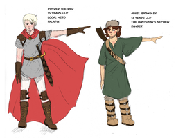Rhyder and Ansel Character Designs by shylittleghost