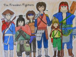 Jet and the Freedom Fighters by sleepyzebra