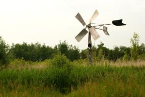 Irrigation windmill 1 by steppelandstock