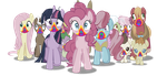 Vector #541 - Rainbow Cookie Zombies by DashieSparkle