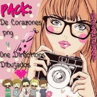 ~Corazones y One directions pack png~ by RoohTutorials