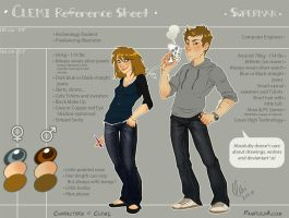 Ref Sheet Clemi and Superman 2012 by Pample