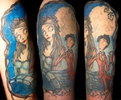 The Corpse Bride Tattoo by markthetog