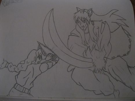 Inuyasha vs edward coloredwithshadecomplete by Toon-Senpai
