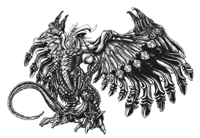 Bahamut FFX by Inbetwixt93