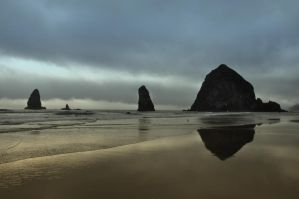 Haystack Rock and the Needles by BeachGirlNikita