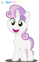 Sweetie Belle Yay by Fluttertroll