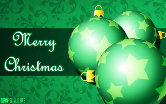 Green Christmas Ornament Card by KnightRanger