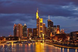 Frankfurt Skyline by Nightline
