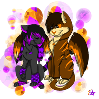 AT: Owl and Hawk by Spywolfie3000